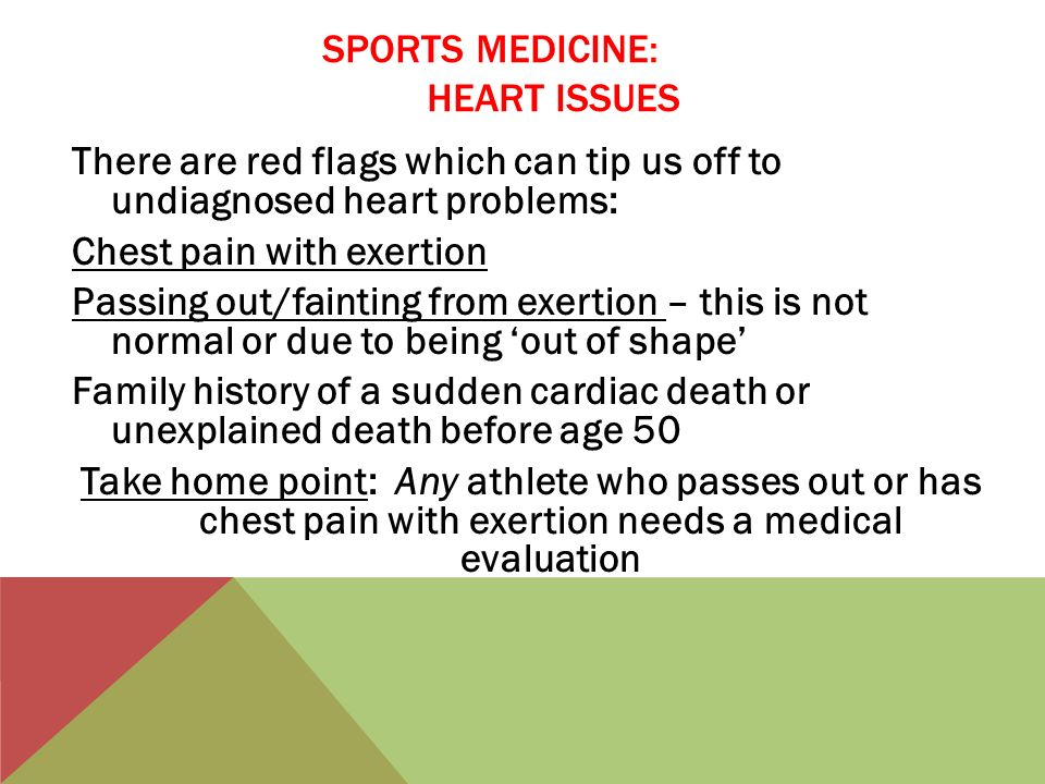 SPORTS MEDICINE: HEART ISSUES