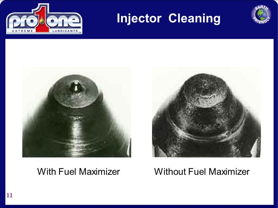 Injector Cleaning With Fuel Maximizer Without Fuel Maximizer