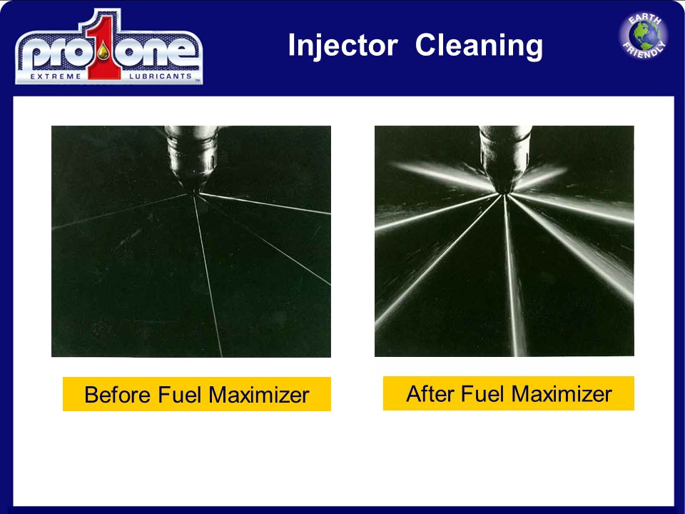 Injector Cleaning Before Fuel Maximizer After Fuel Maximizer