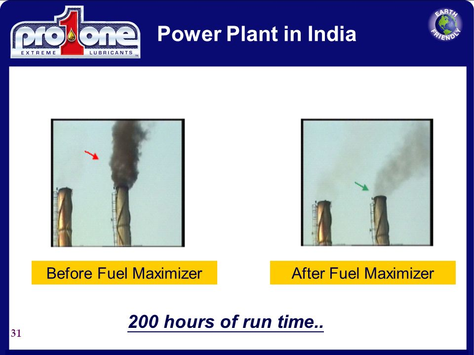 Power Plant in India 200 hours of run time.. Before Fuel Maximizer