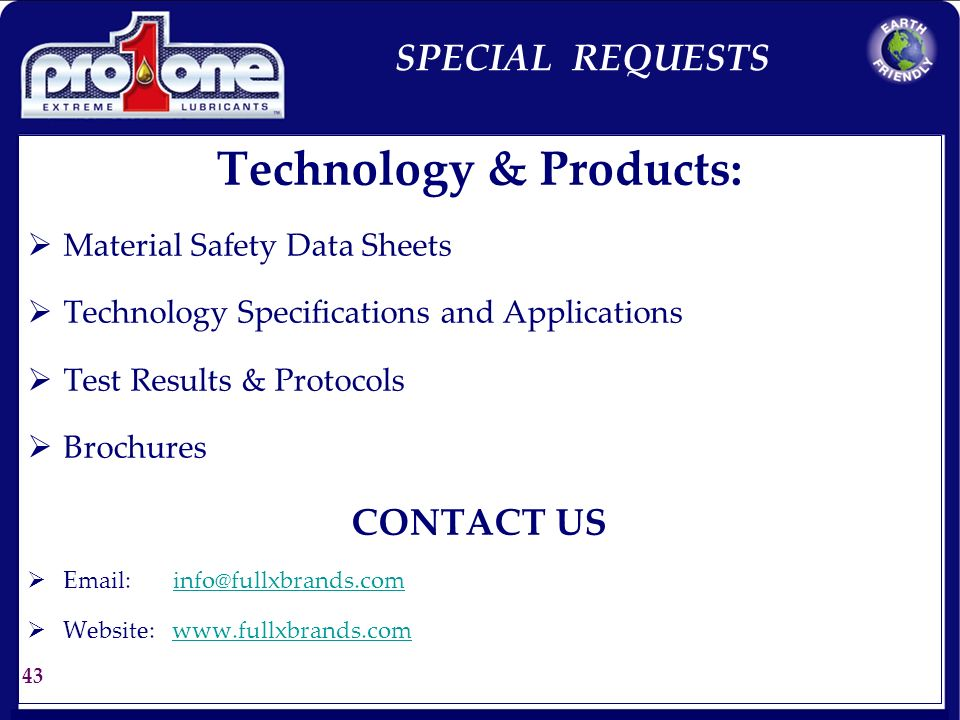 Technology & Products: