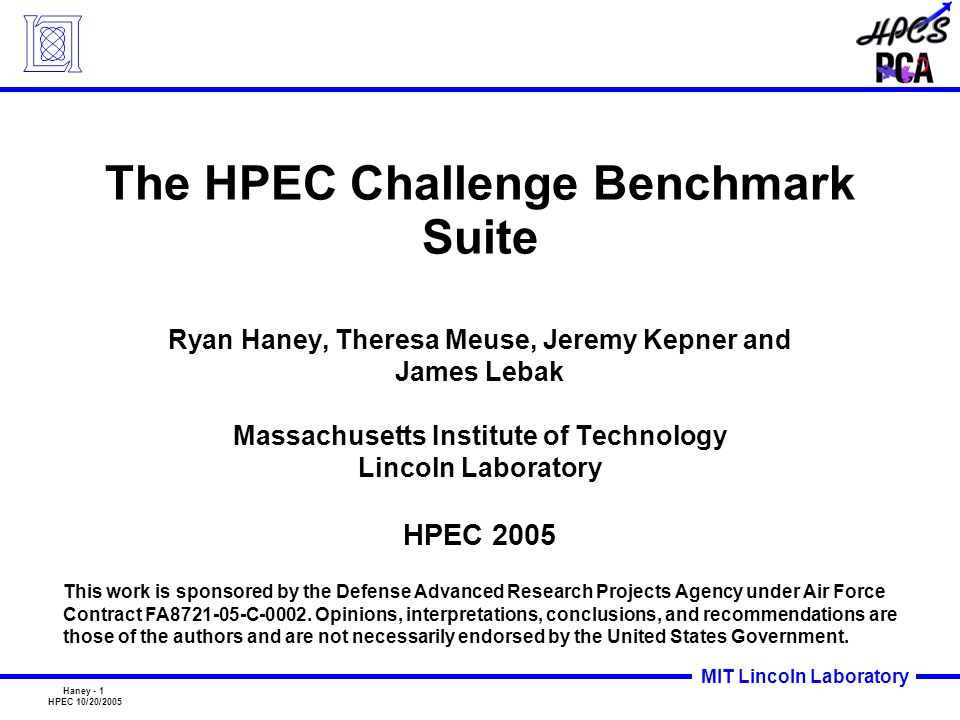 The HPEC Challenge Benchmark Suite