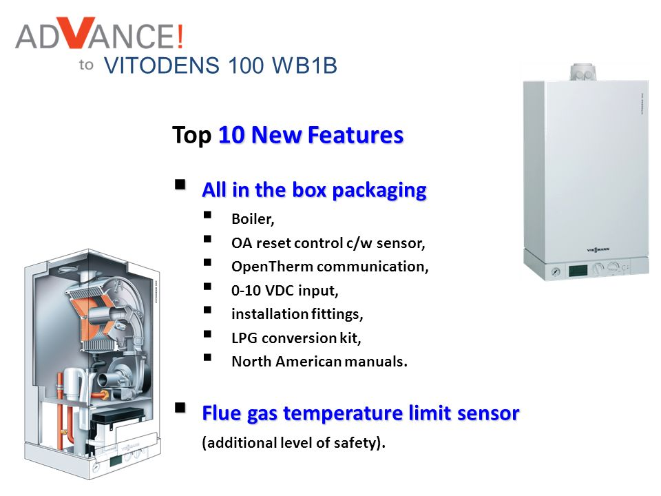 Top 10 New Features VITODENS 100 WB1B All in the box packaging