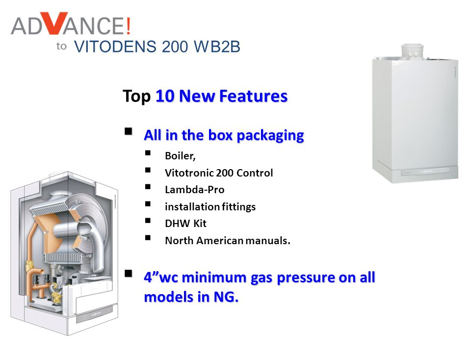 Top 10 New Features VITODENS 200 WB2B All in the box packaging
