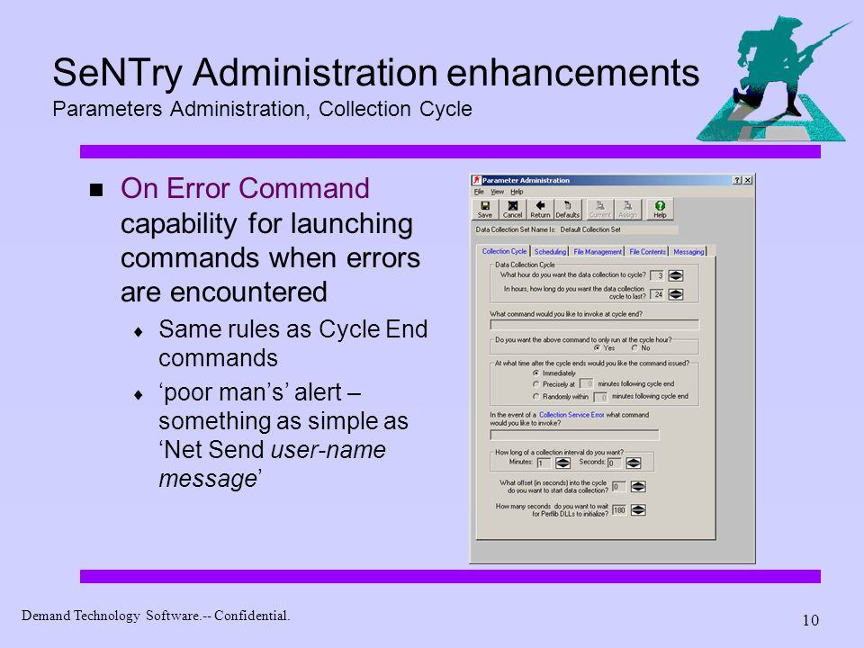 SeNTry Administration enhancements Parameters Administration, Collection Cycle