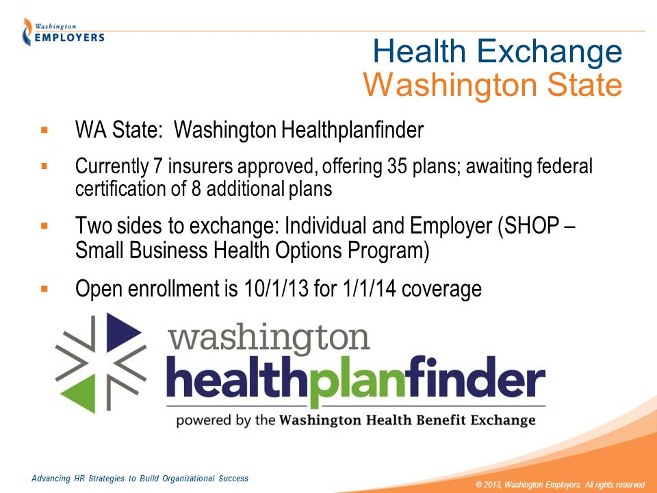 Health Exchange Washington State