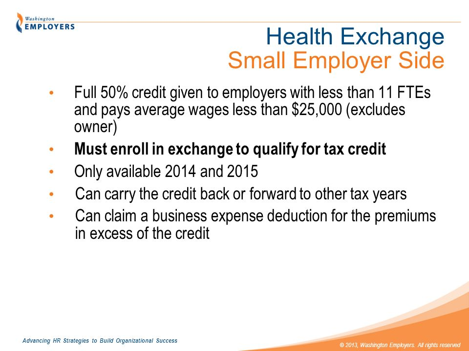 Health Exchange Small Employer Side