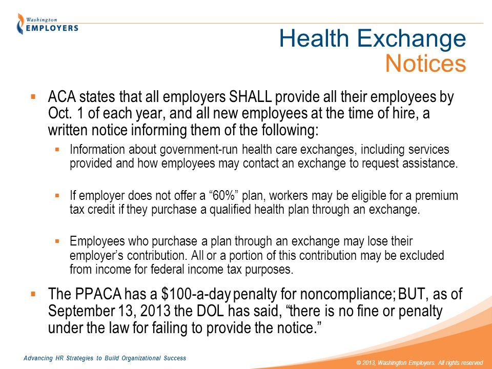 Health Exchange Notices