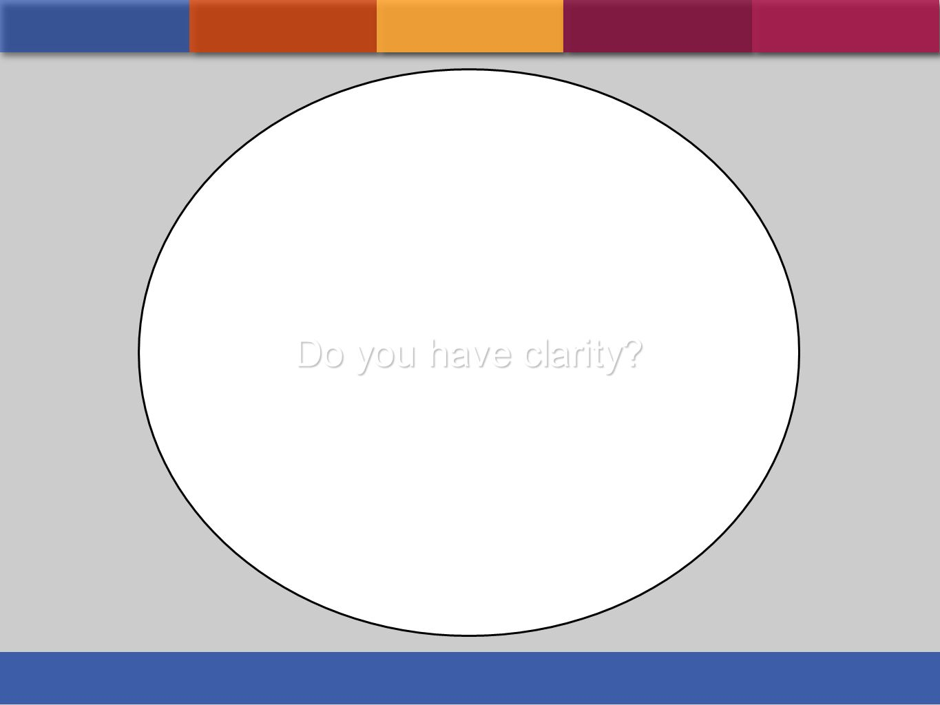 Do you have clarity