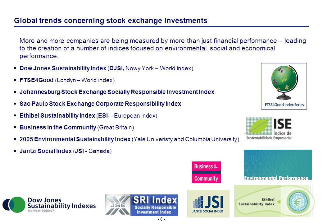 Global trends concerning stock exchange investments