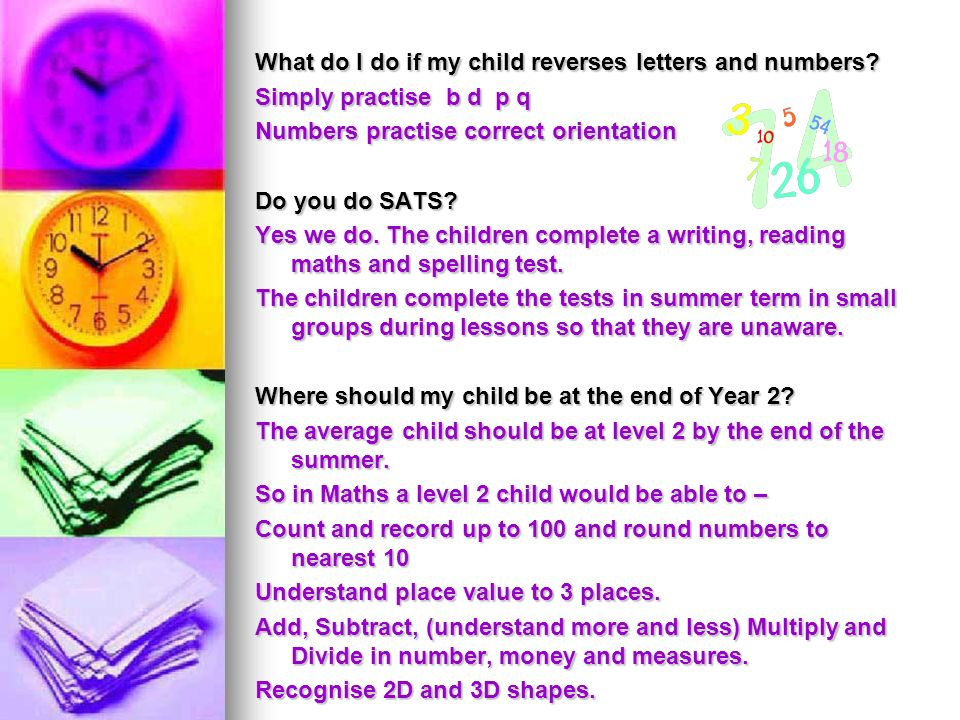 What do I do if my child reverses letters and numbers