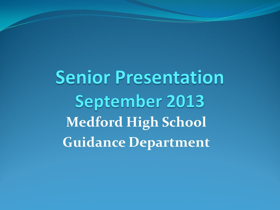 Senior Presentation September 2013