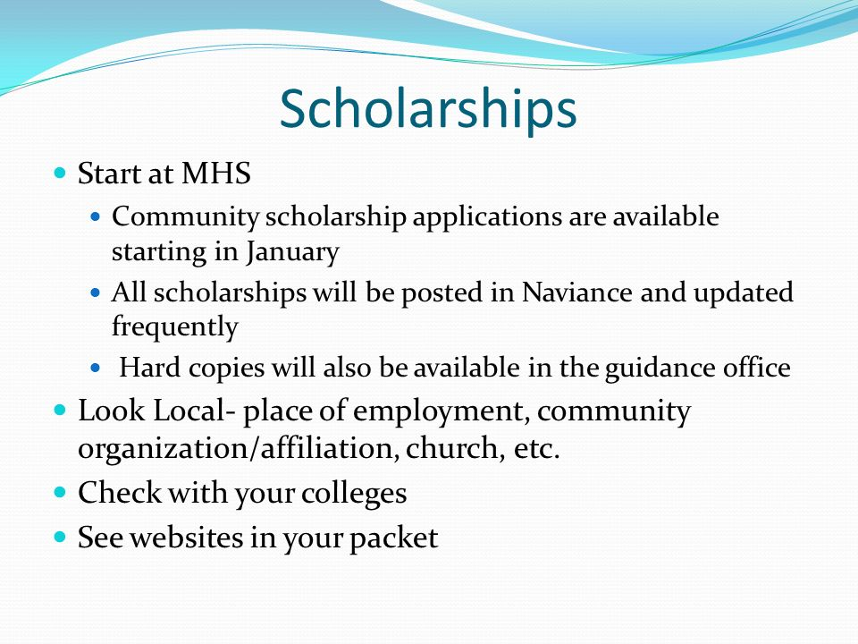 Scholarships Start at MHS