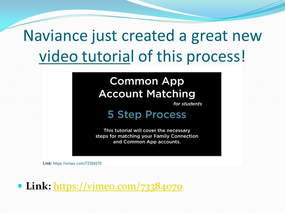 Naviance just created a great new video tutorial of this process!