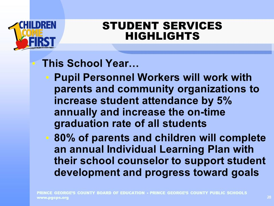 STUDENT SERVICES HIGHLIGHTS