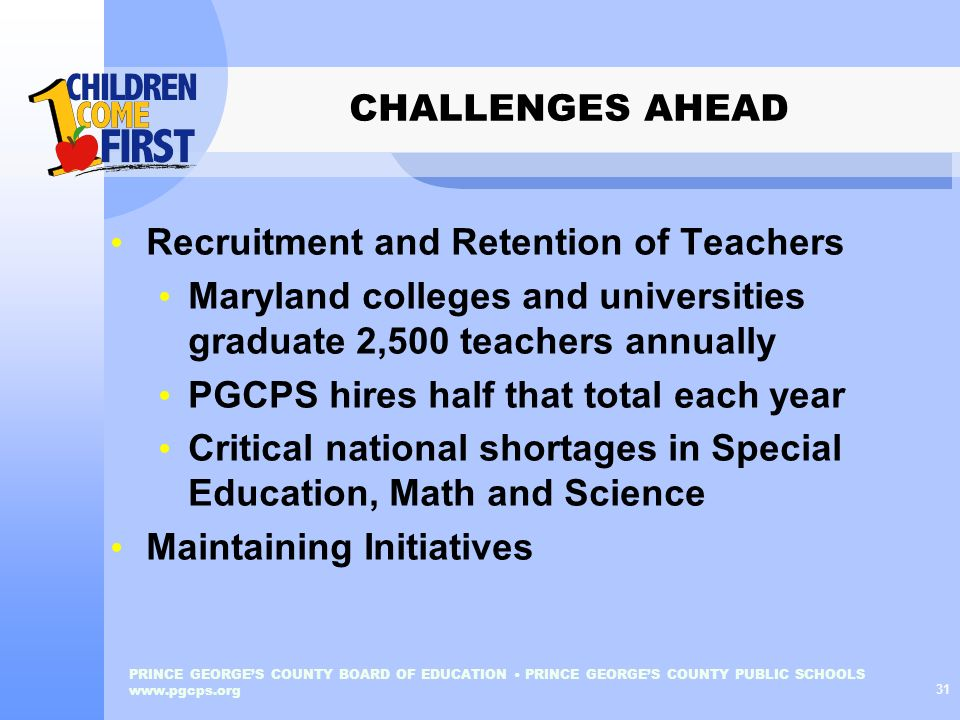 Recruitment and Retention of Teachers