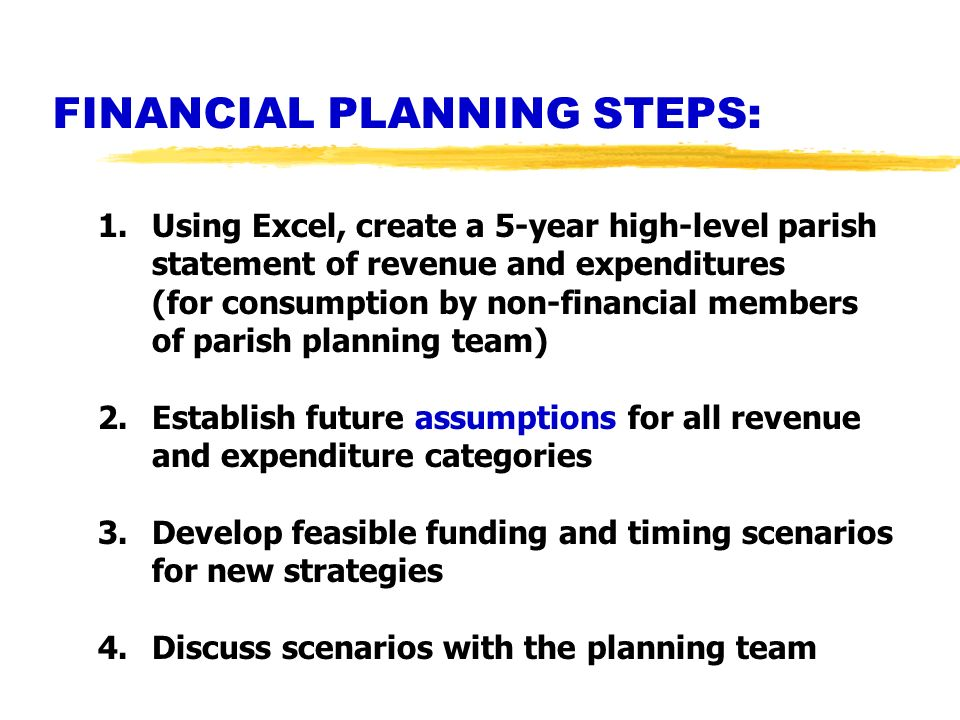 FINANCIAL PLANNING STEPS: