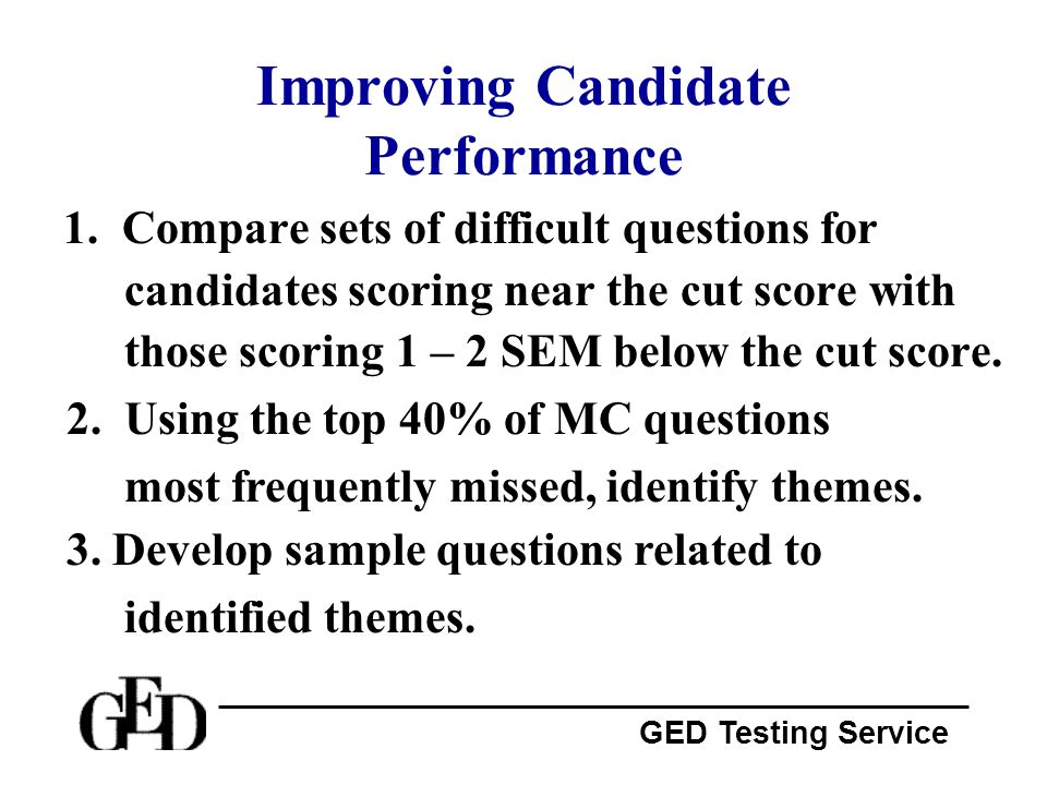Improving Candidate Performance