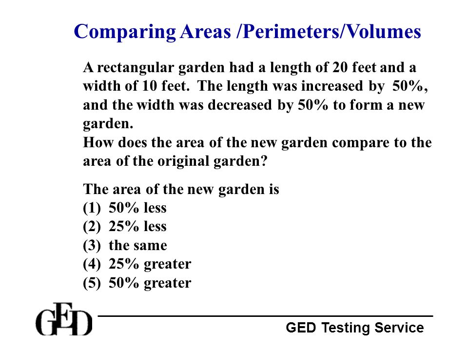 Comparing Areas /Perimeters/Volumes
