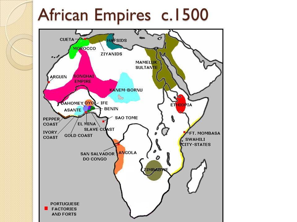 African Empires c.1500 Students need to know at least 1 one these for the test!!!