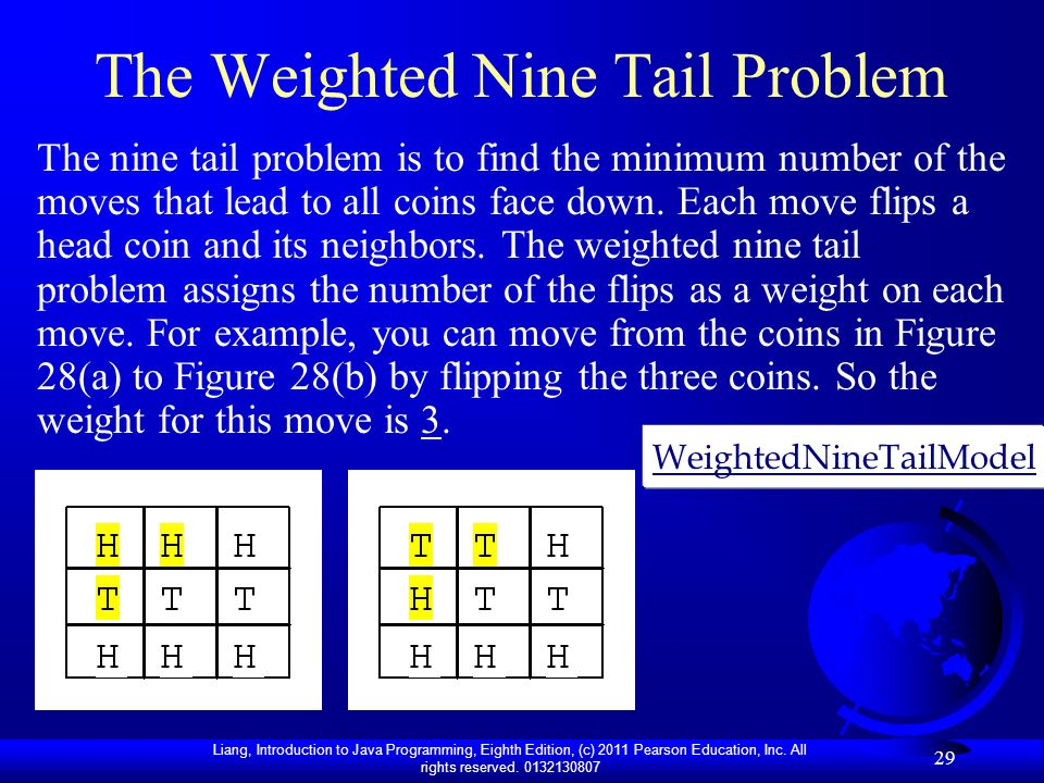 The Weighted Nine Tail Problem
