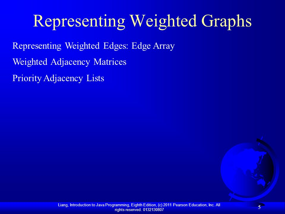 Representing Weighted Graphs