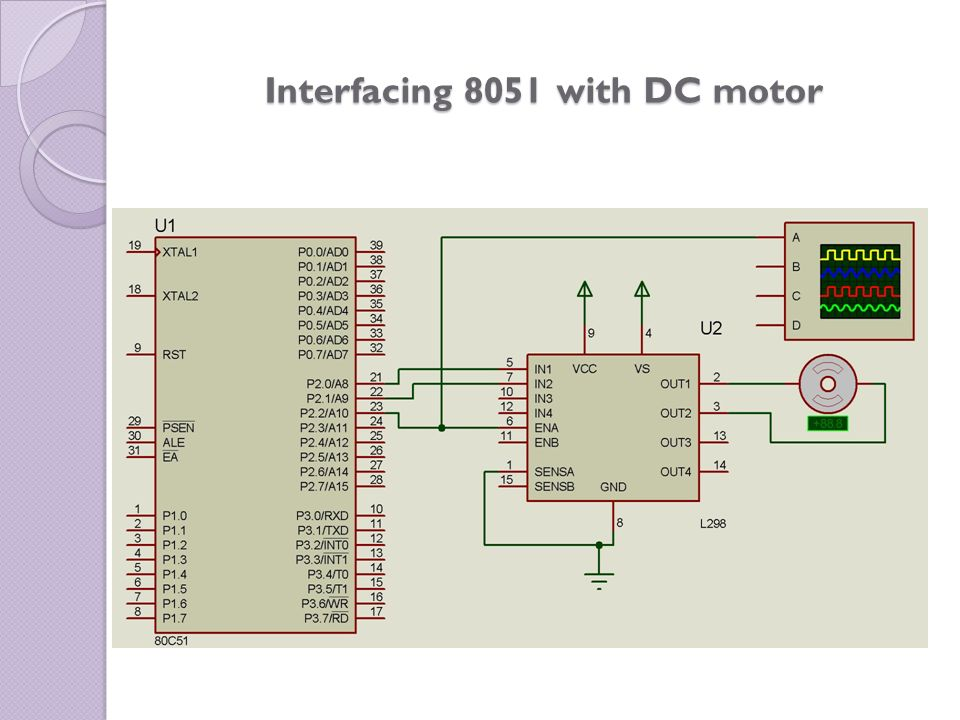 Interfacing 8051 with DC motor