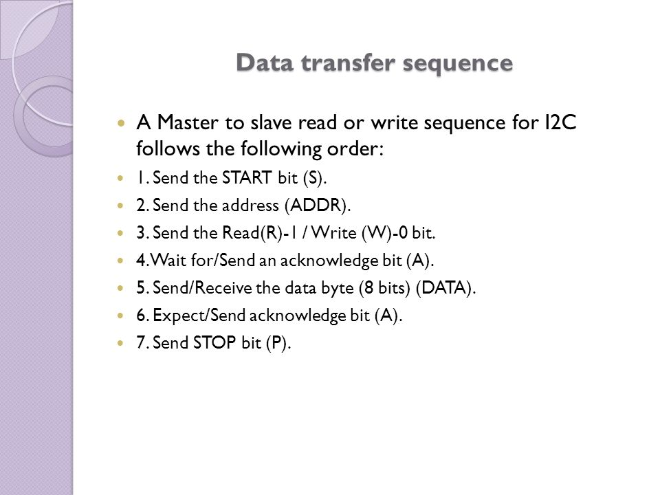 Data transfer sequence
