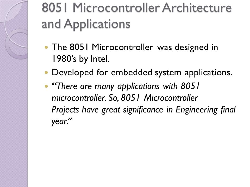 Applications Of Microcontroller Ppt