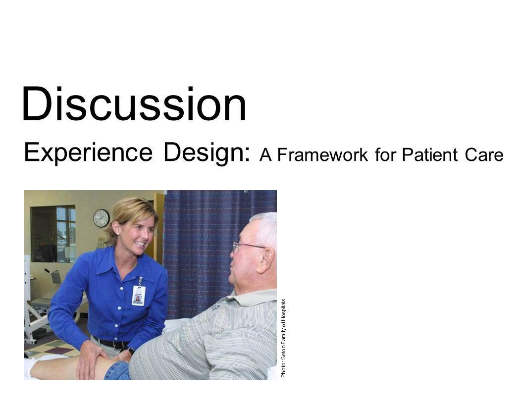 Experience Design: A Framework for Patient Care