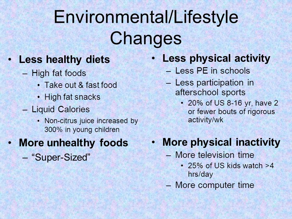 Environmental/Lifestyle Changes