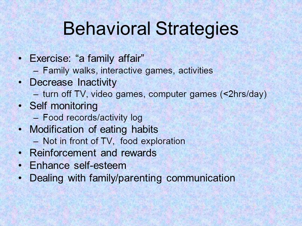 Behavioral Strategies