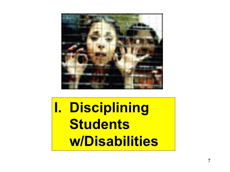 Disciplining Students w/Disabilities