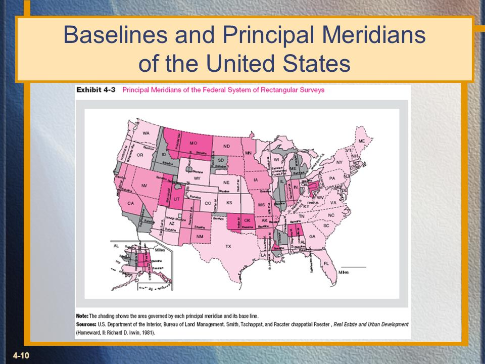 Baselines and Principal Meridians of the United States