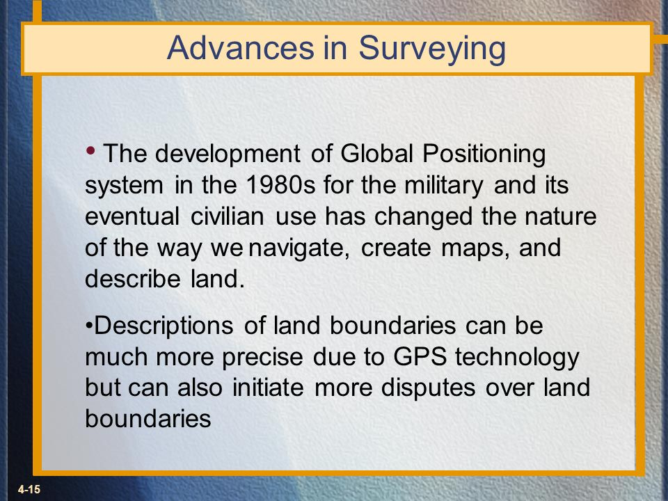 Advances in Surveying