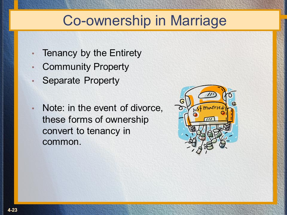 Co-ownership in Marriage