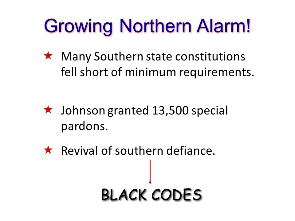 Growing Northern Alarm!