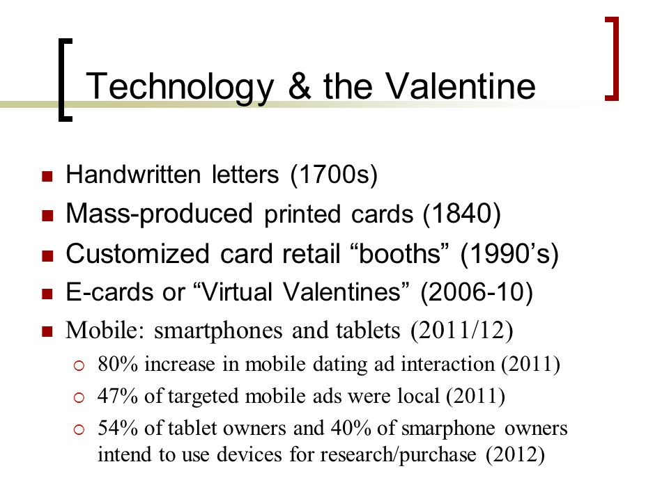 Technology & the Valentine