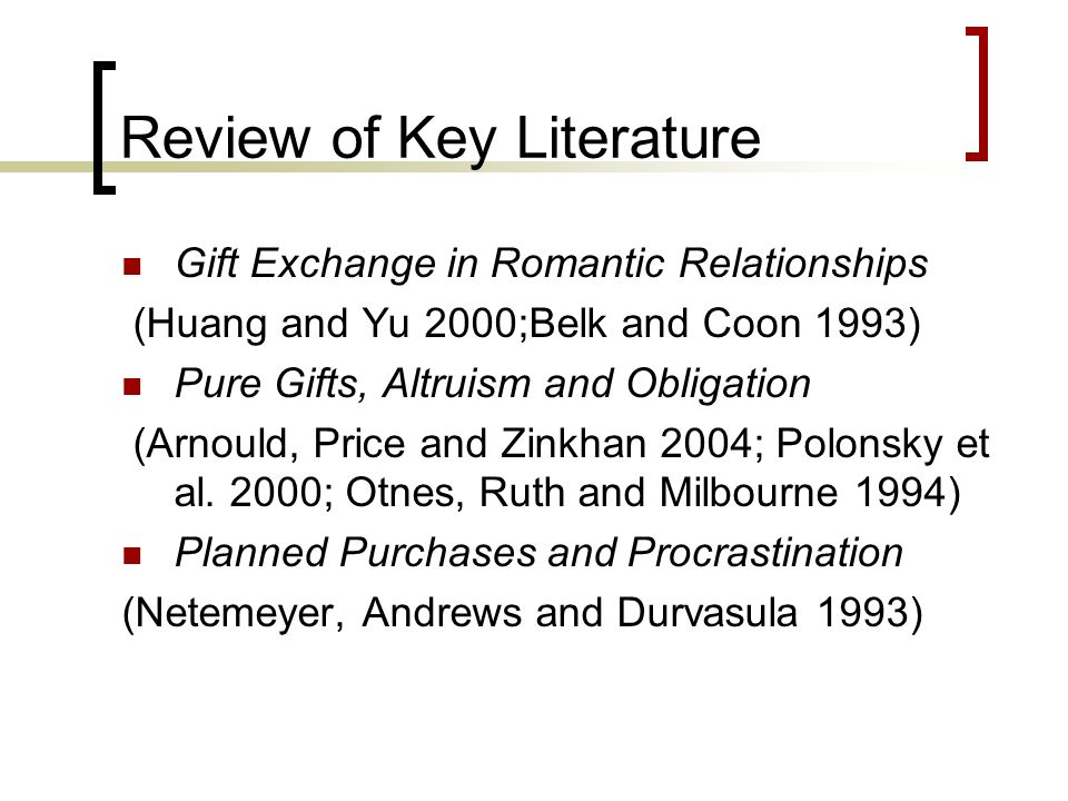Review of Key Literature