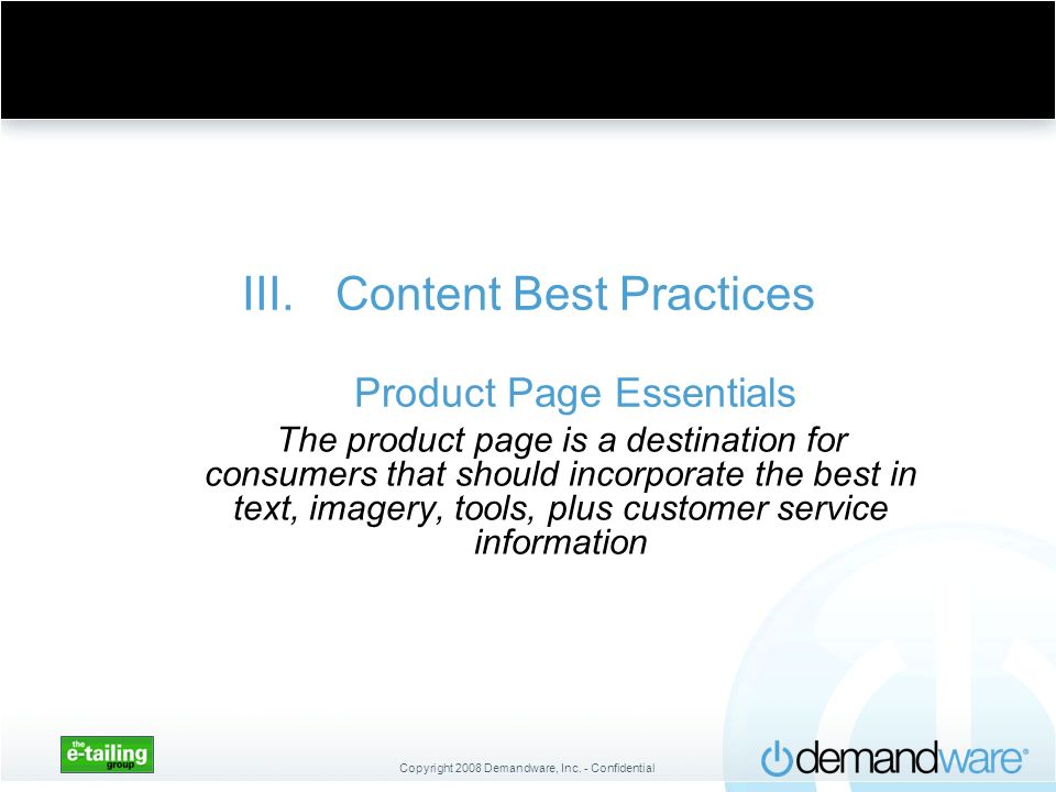 Content Best Practices Product Page Essentials