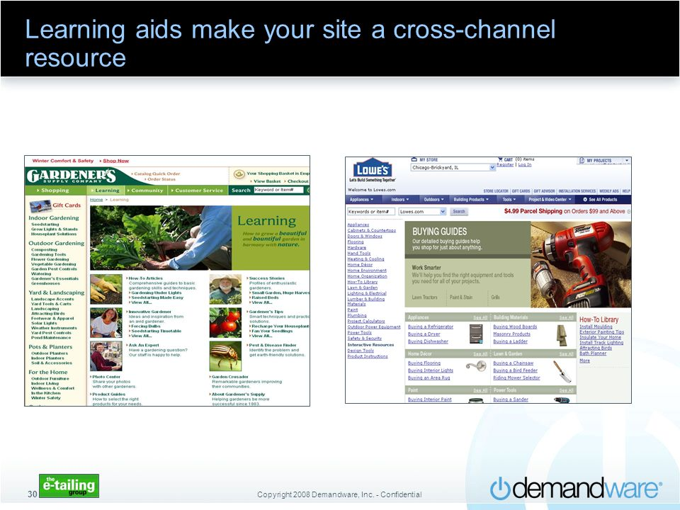 Learning aids make your site a cross-channel resource