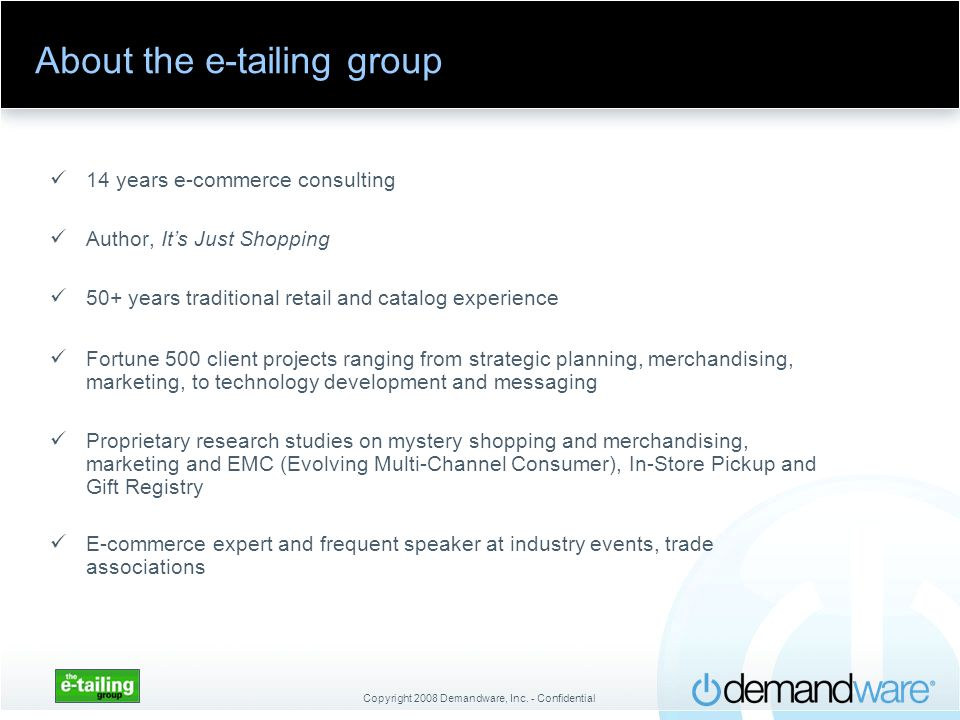 About the e-tailing group