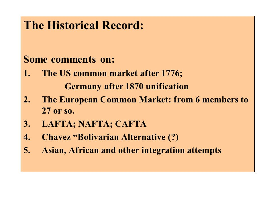 The Historical Record: