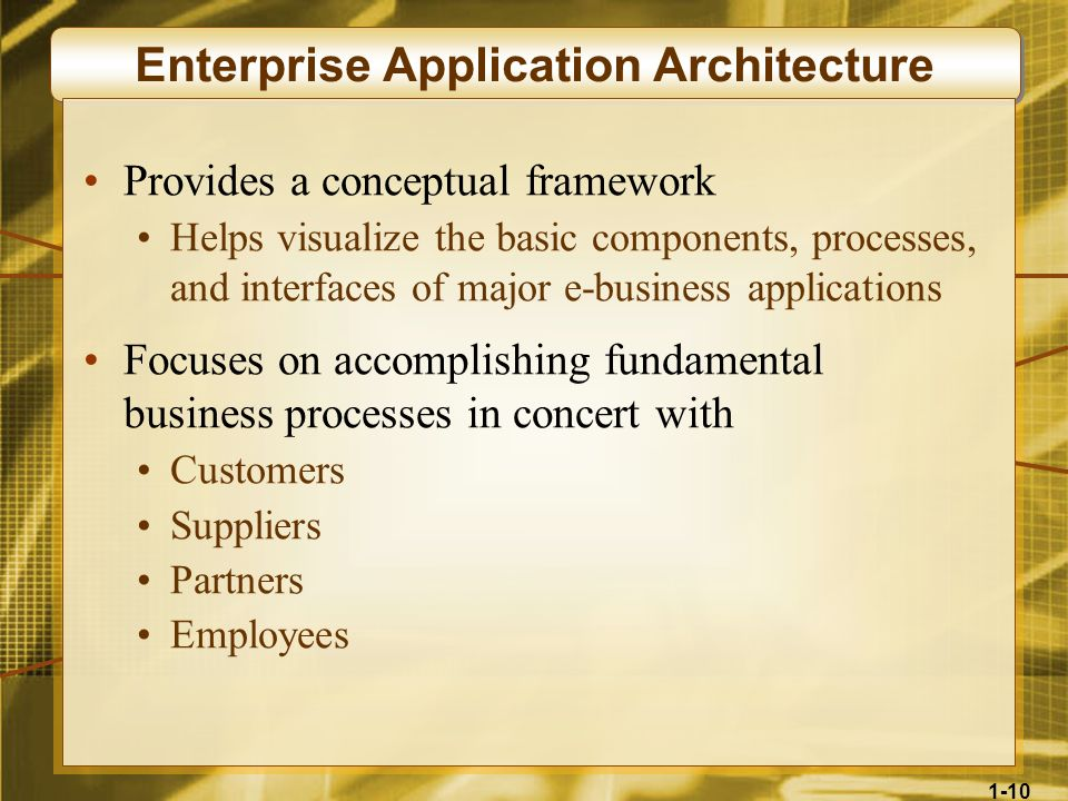 Enterprise Application Architecture