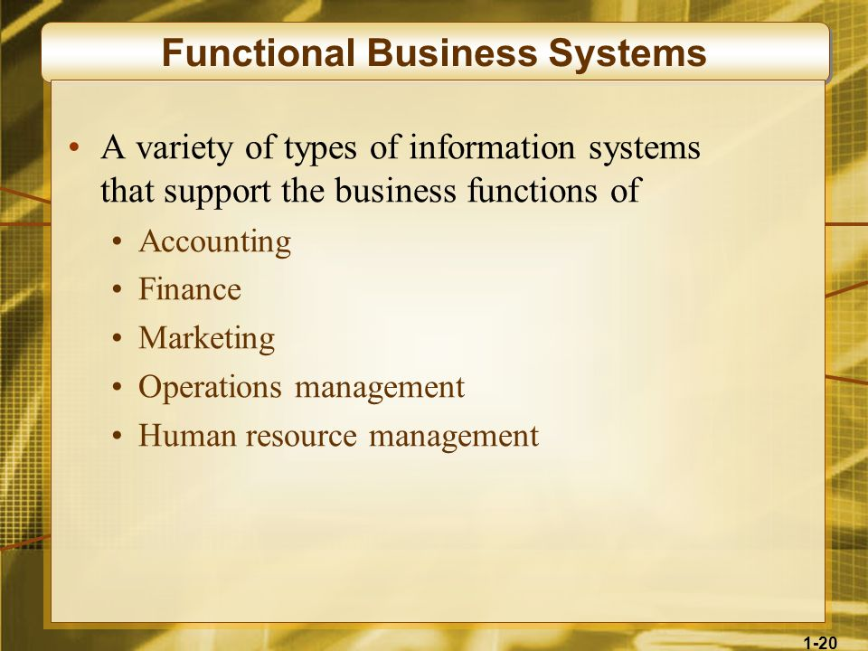 Functional Business Systems