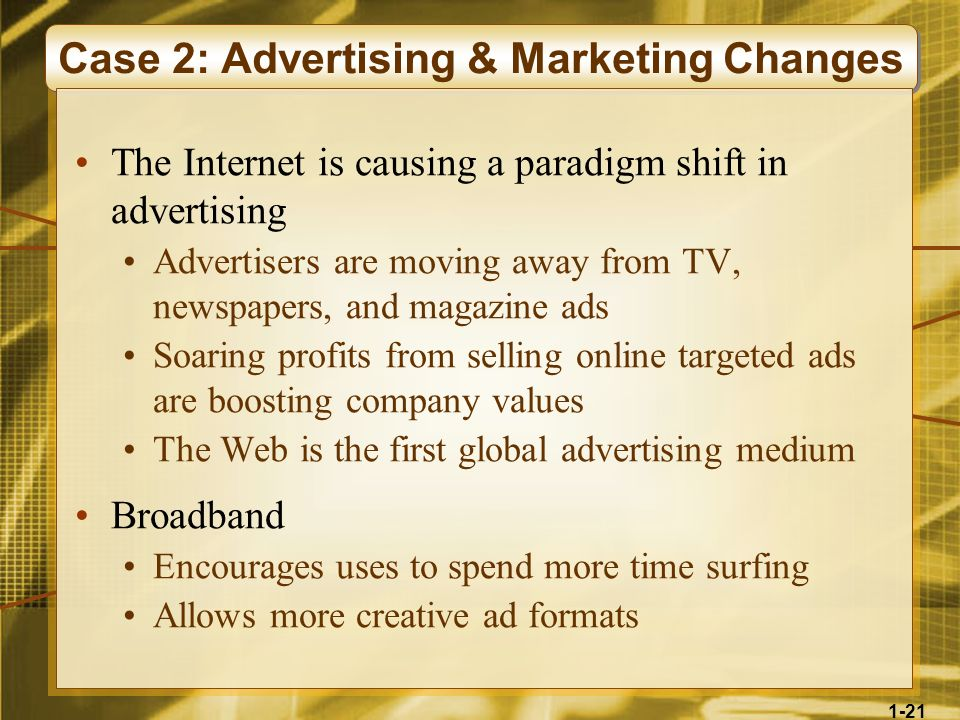 Case 2: Advertising & Marketing Changes