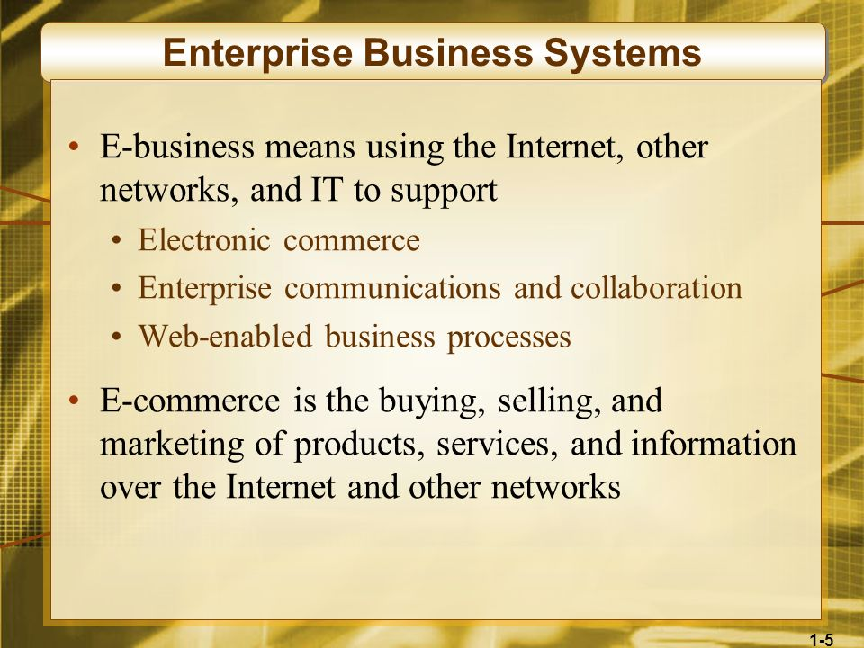 Enterprise Business Systems
