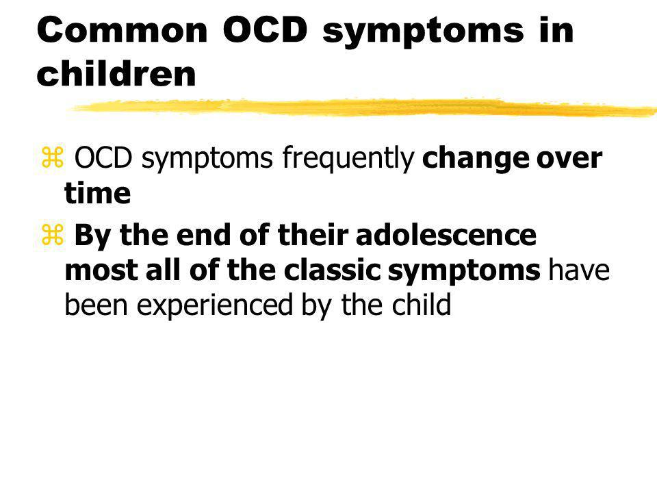 Common OCD symptoms in children