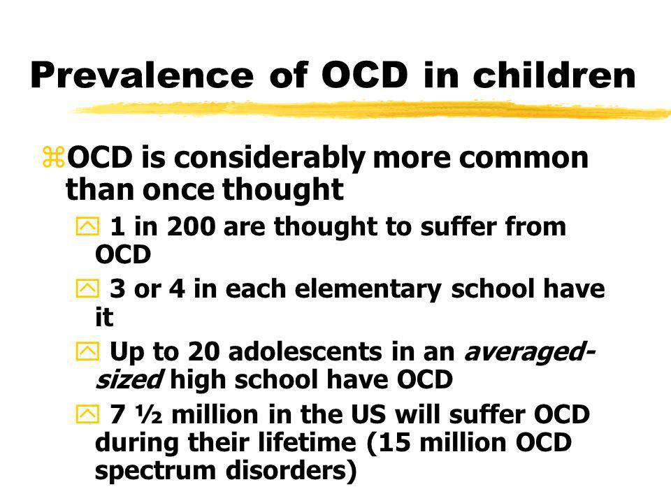 Prevalence of OCD in children