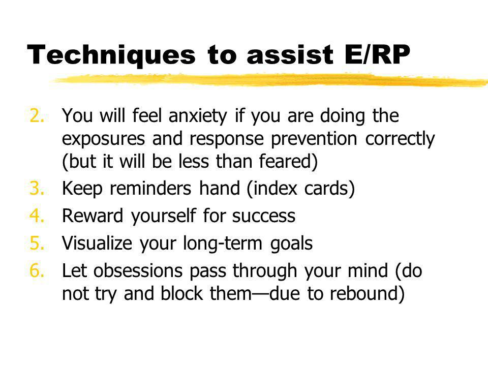 Techniques to assist E/RP